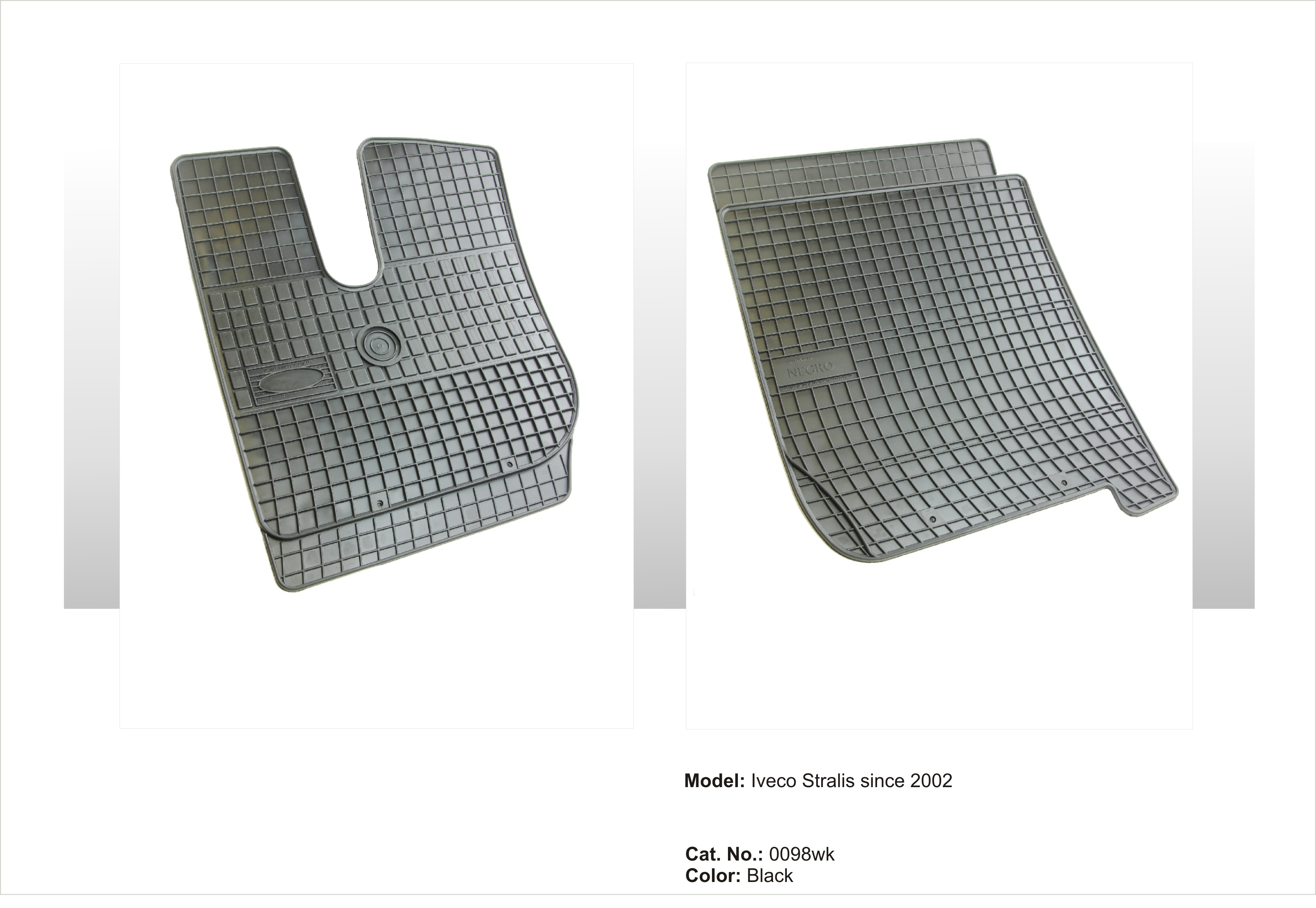 Gumové rohože IVECO Stralis - úzká kabina since 2002
