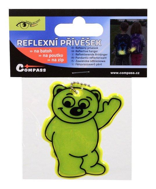 Reflexní přívěsek medvídek - žlutý., 01723
