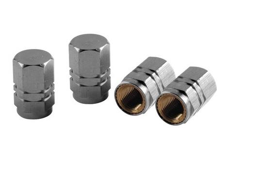 Ozdobné čepičky ventilků silver, 02503