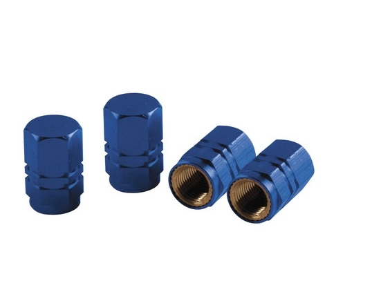 Ozdobné čepičky ventilků blue, 02504