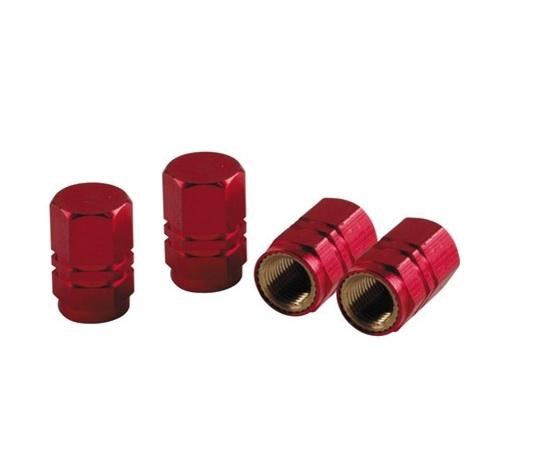 Ozdobné čepičky ventilků red, 02505