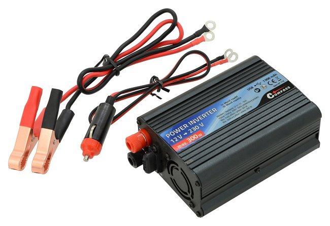 Měnič napětí z 12V na 230V, 300W + USB, 07112