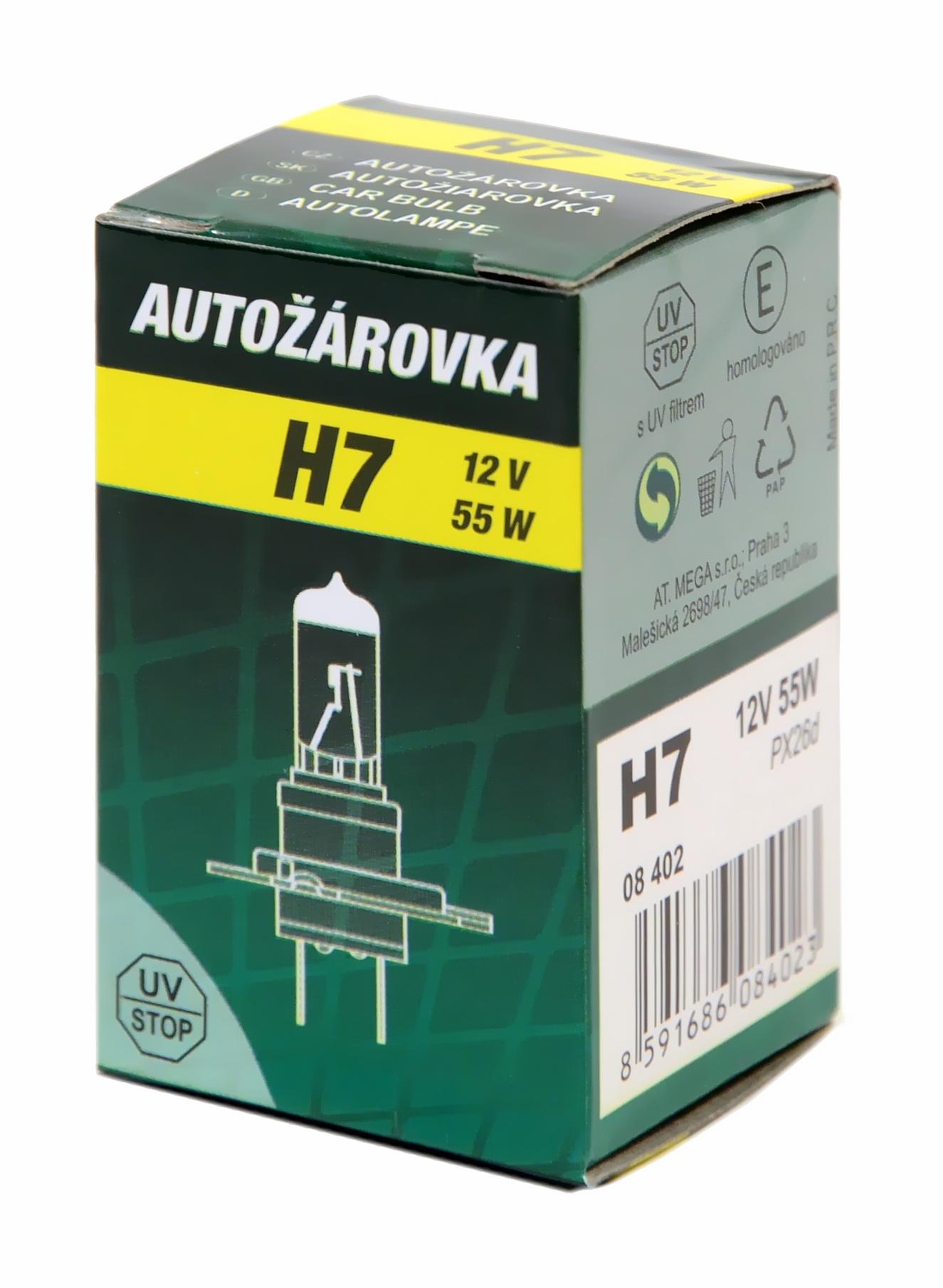 Žárovka H7 12V/55W, 08402
