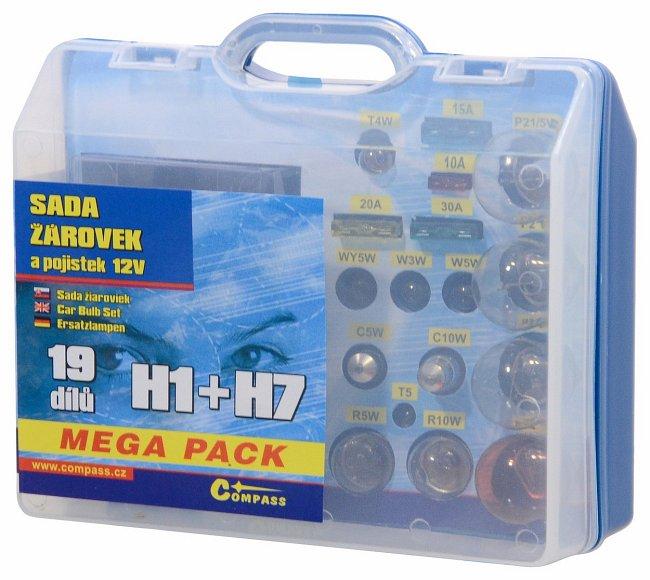 Sada žárovek MEGA H1+H7+pojistky, 08517