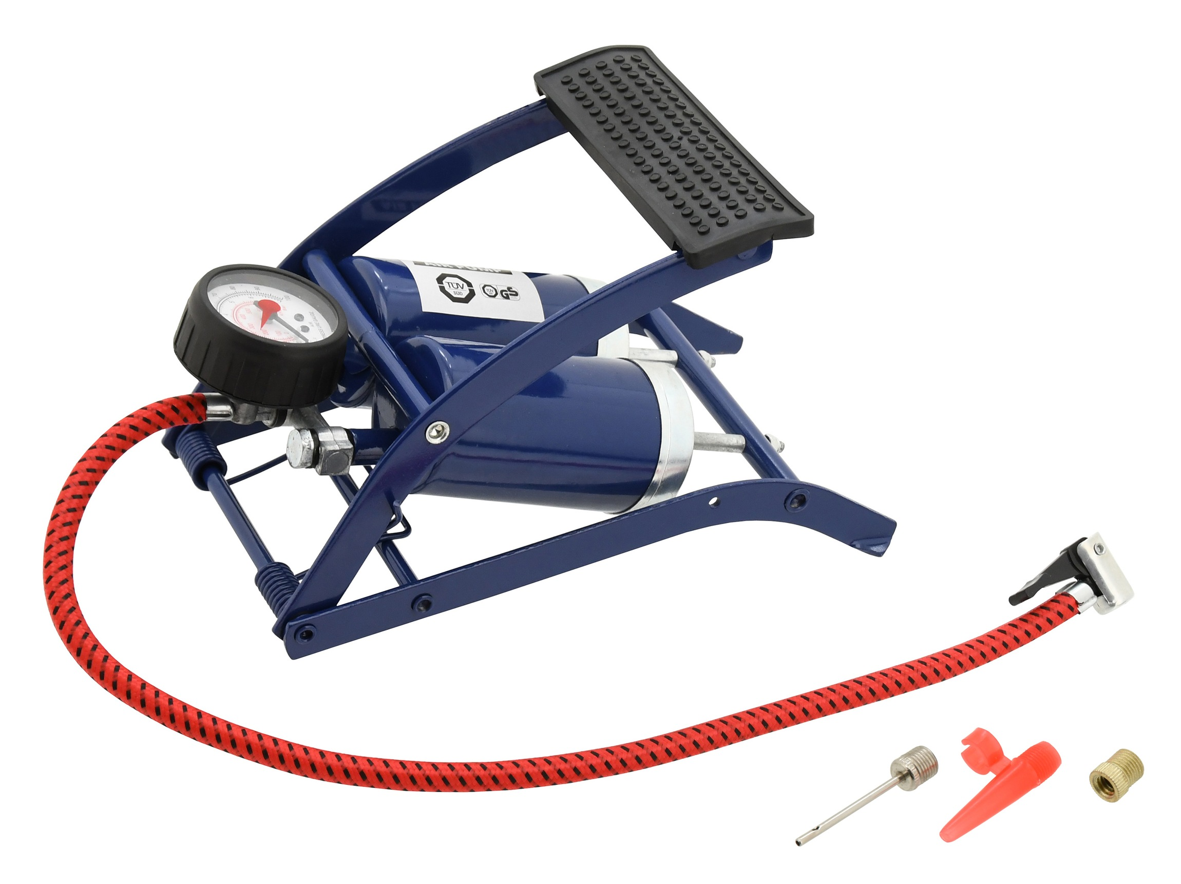 Nožní pumpička dvoupístová s manometrem, 09152