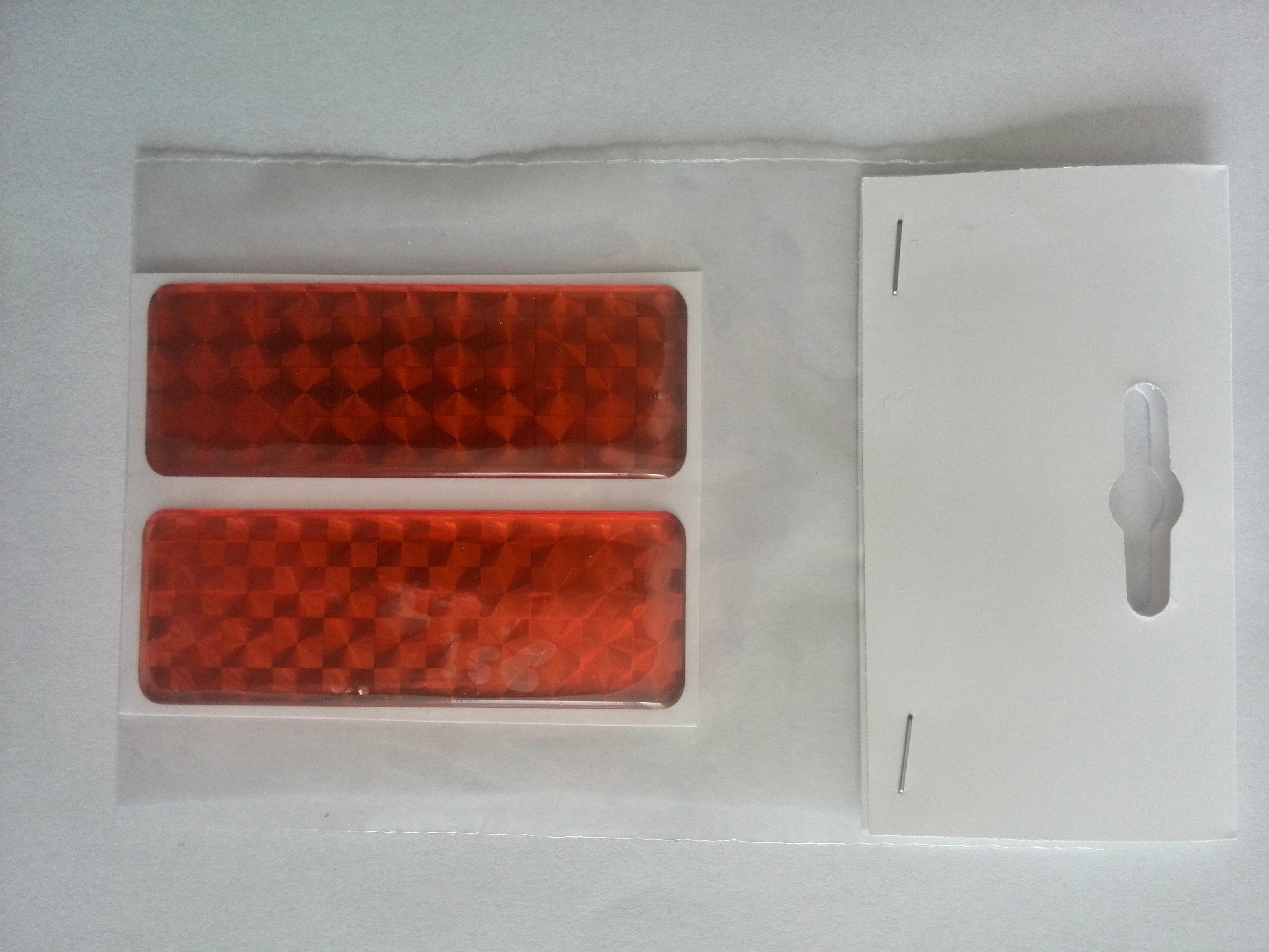 Odrazka 2,5x7 cm oranžová, samolepící