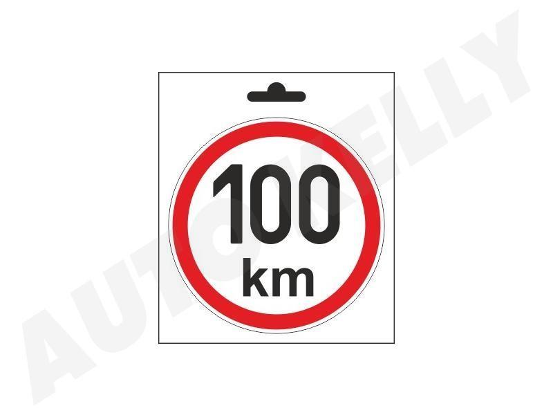 Samolepka omezená rychlost 100km/h