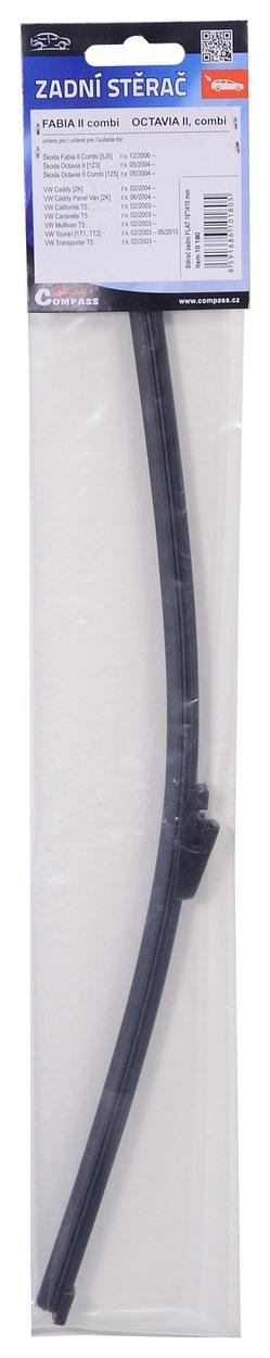 "Stěrač zadní FLAT 16""/410 mm OCT2 (04-)/ FAB2 combi (08-), 10180"