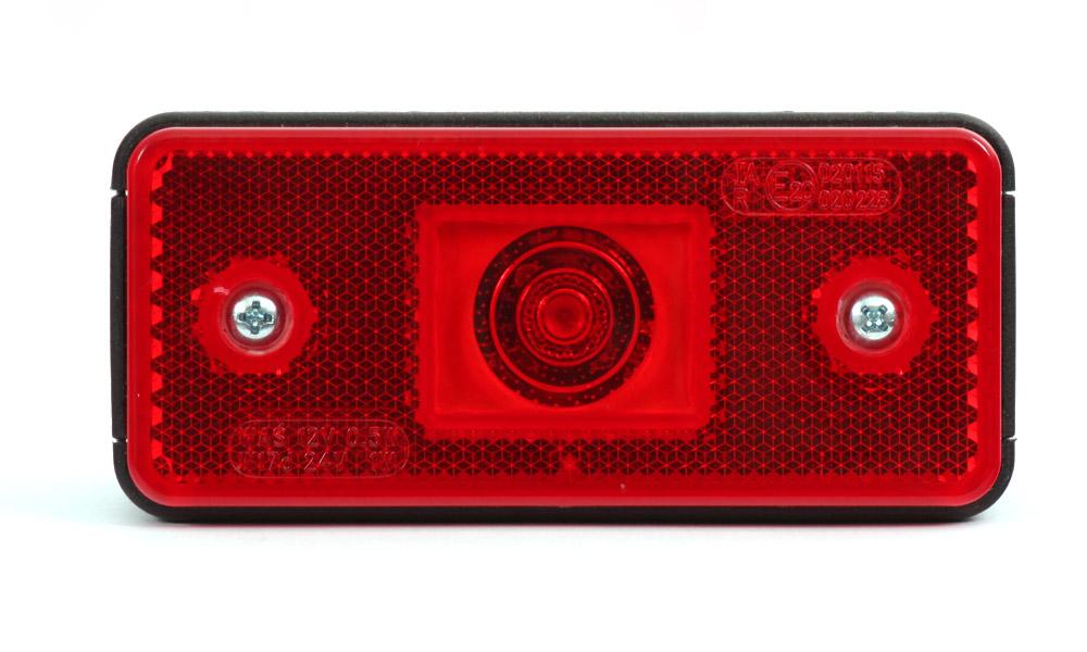 Světlo sdružené obrysové zadní s krytkou, 12V-24V, LED, W17D