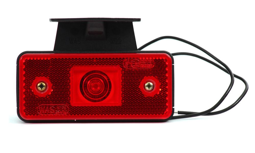 Světlo sdružené obrysové zadní s držákem, 12V-24V, LED, W17D