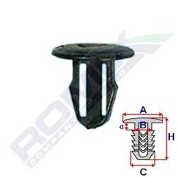Příchytka čalounění A-13,6; B-6,9; C-8; d-3; H-13,2mm (balení 10ks)