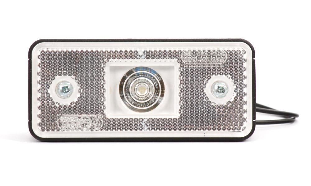 Světlo obrysové přední s krytkou, 12V-24V, LED, W17D