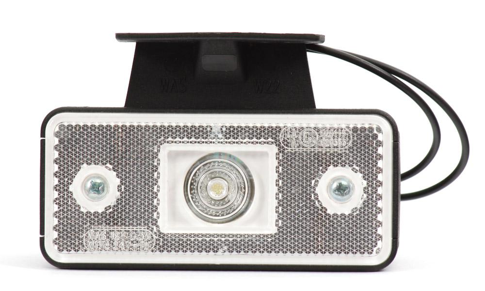Světlo obrysové přední s držákem, 12V-24V, LED, W17D