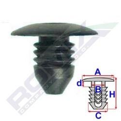 Příchytka A-23,2; B-8,2; C-11; d-3,4; H-18,8mm