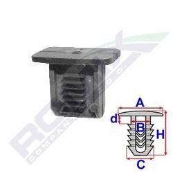 Příchytka kufru A-16,5x10,7; B-10,2x4,6; C-10,2x7,8; H-13,5mm