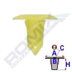 Příchytka čalounění A-19,8; B-9,3; C-5,3; H-20,3mm