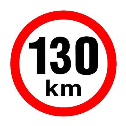 Samolepka omezená rychlost 130km/h