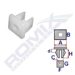 Montážní kostka A-9,6; B-9,6; C-3,5; F-7,2; G-6,8; H-6,3mm