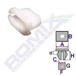 Montážní kostka A-16,6; B-9,8; C-11x2,4; F-12,6; G-7,4; H-8,5mm