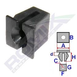 Montážní kostka A-14,5; B-12,8; C-3,9; d-2; F-9,4; G-12,6; H-12,5 mm