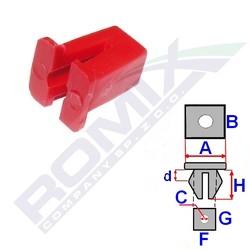 Montážní kostka A-9,5; B-9,5; C-3; F-7,2; G-6,5; H-10 mm