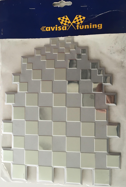 """Samolepící dekory """"AVISA"""" šachovnice silver AL"""