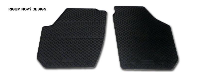 Autokoberce gumové Rigum Škoda Roomster Praktik přední (2ks) design