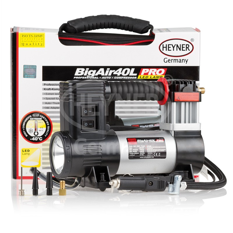 Kompresor 12V BigAir 40l s osvětlením, 237100