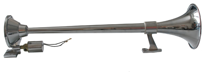 Fanfára kulatá 1 trubka 12/24V bez kompresoru L64cm, 58604