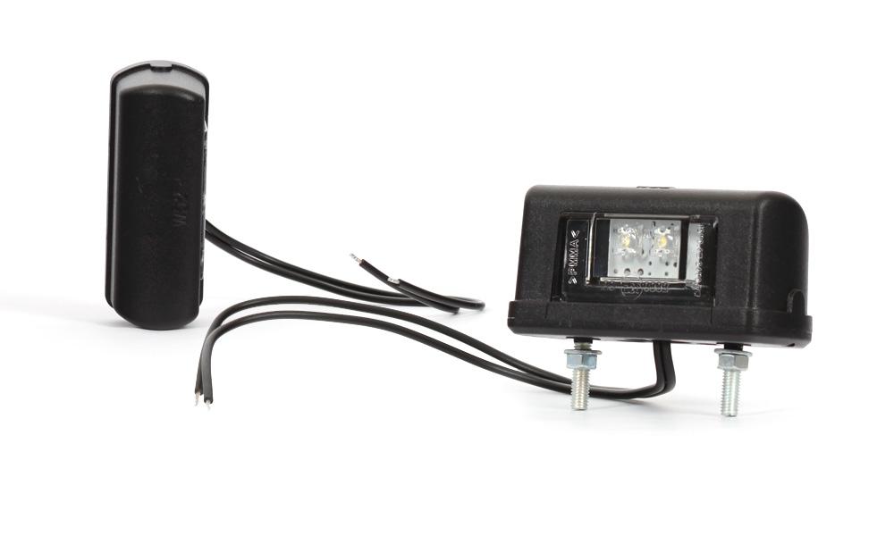 Osvětlení SPZ 12/24V LED - černé, W52