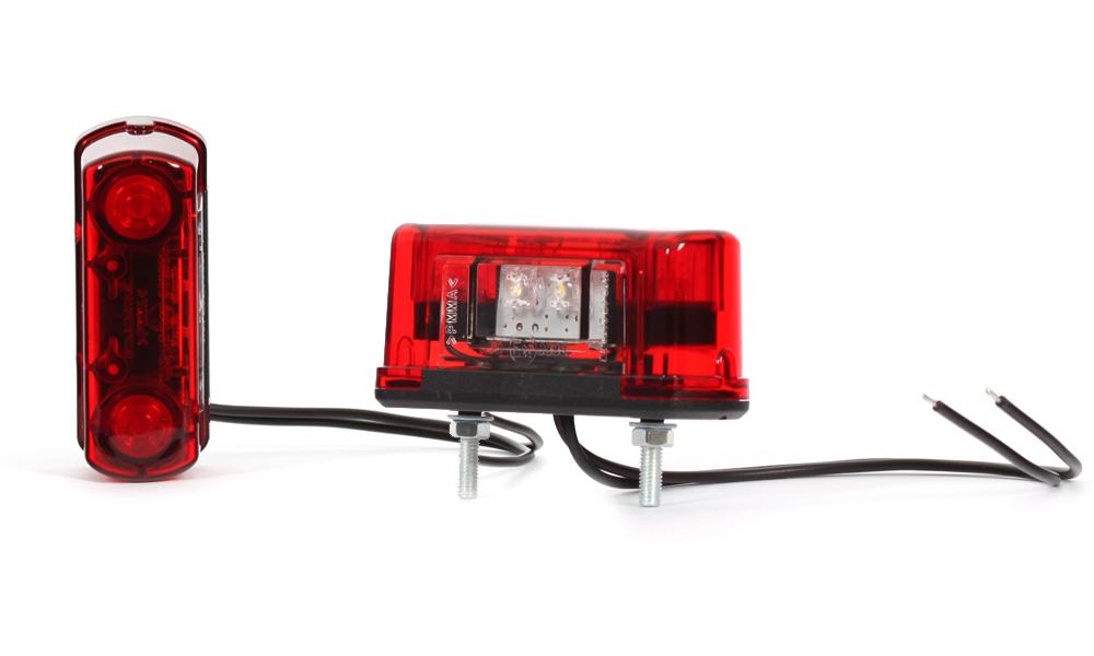 Osvětlení SPZ 12/24V LED, červené, W52