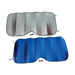 Clona letní na čelní sklo 130x60 cm stříbrno-modrá, 46121