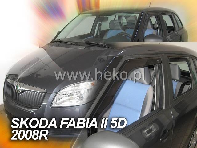 Plexi Škoda Fabia II 4D 07R combi + zadní  (1393)