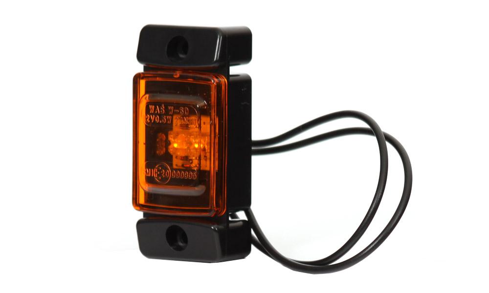 Poziční boční světlo, 12V-24V, LED, W60