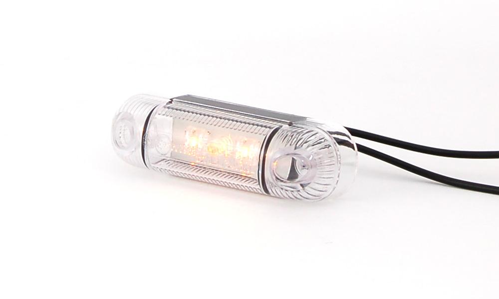 Poziční boční světlo oranžové 12V-24V, 3x LED W61