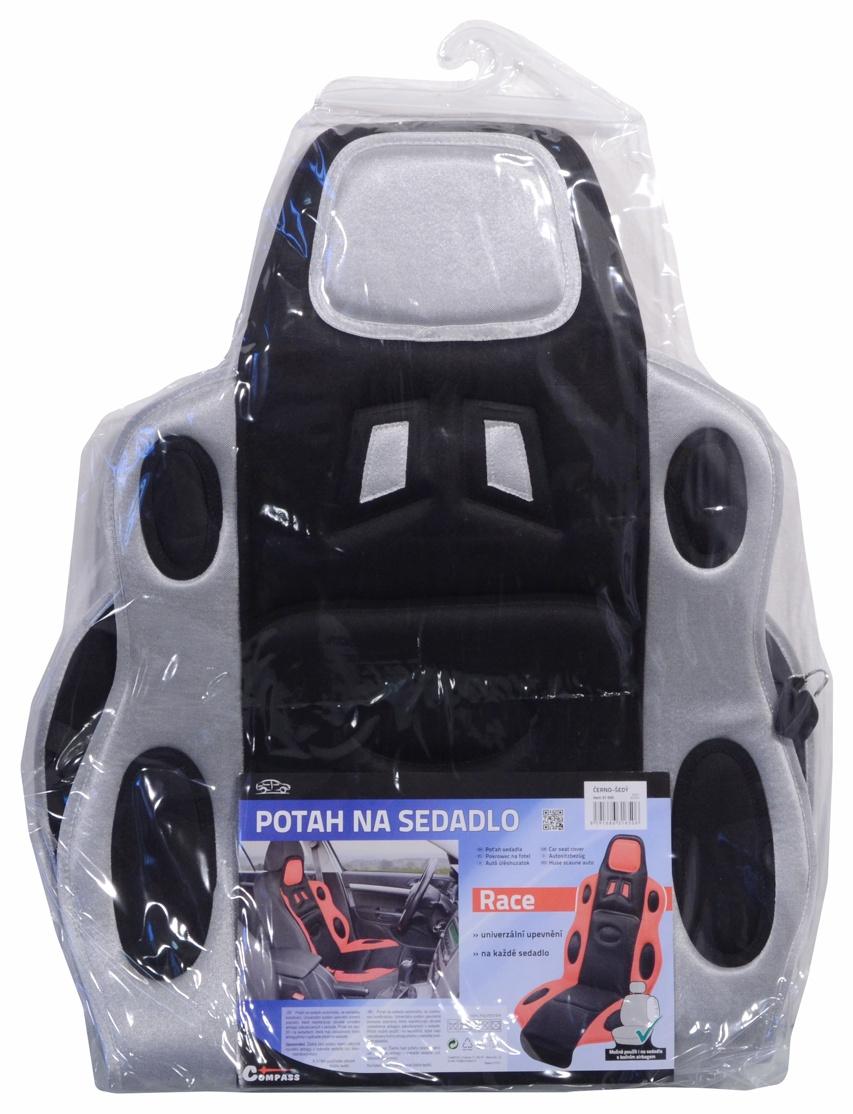 Potah sedadla RACE černo-šedý, 31650