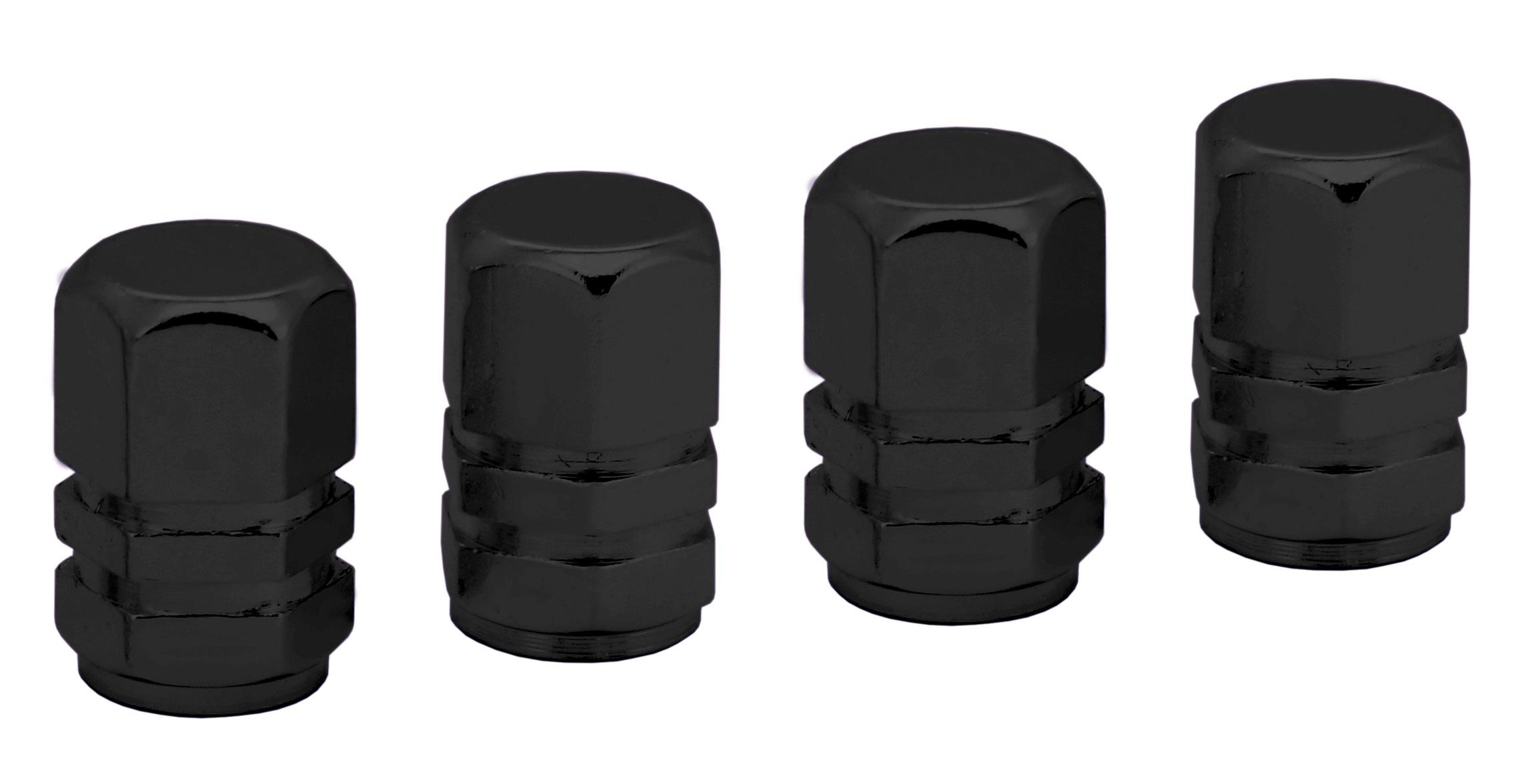 Ozdobné kryty ventilků černé 4ks, 32333