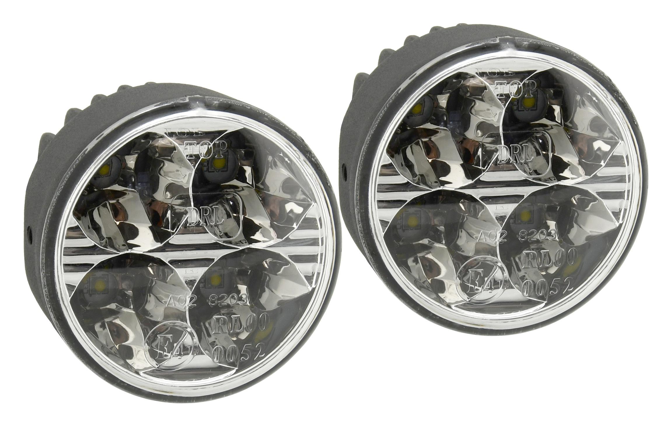Světla denního svícení 4 HIGH POWER LED 12/24V (kulaté pr.70mm)   33551