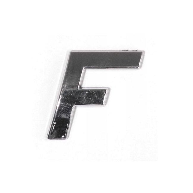 Znak F samolepící PLASTIC