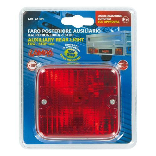 Zadní mlhové světlo červené 70x80mm, 41501