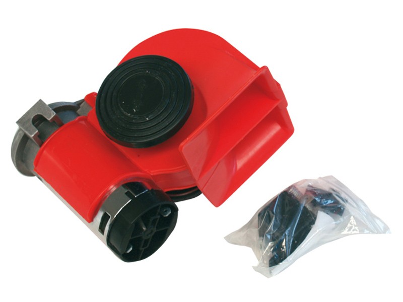 Klakson červený NAUTILUS 12V s kompresorem 58103