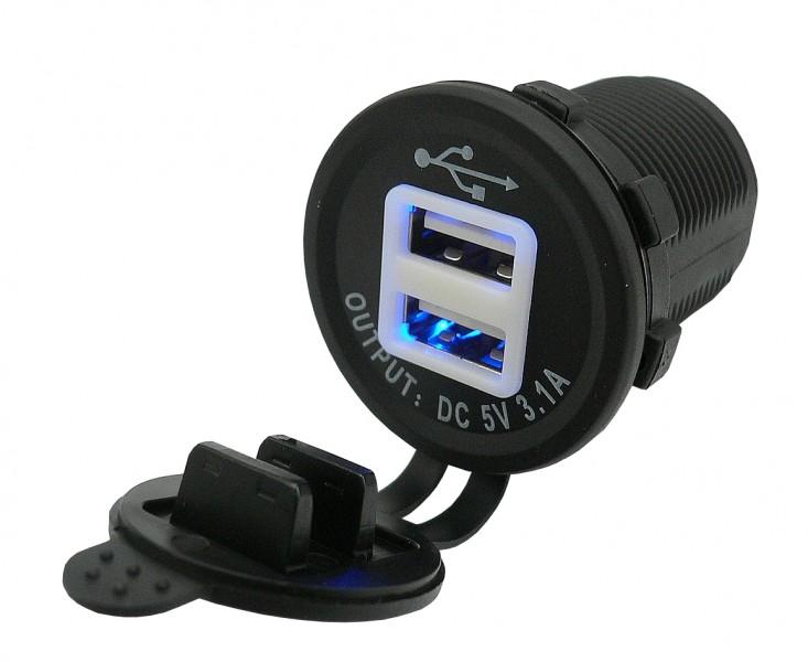 Nabíječka BONET 12/24V, 2x USB výstupem, 3100mA, 42558