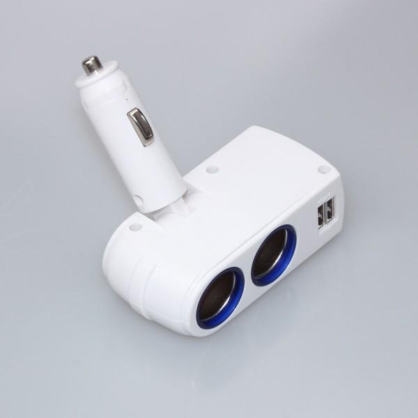 Rozdvojka EDGAR s 2x USB výstupem, 12/24V, 2100mA, 42614