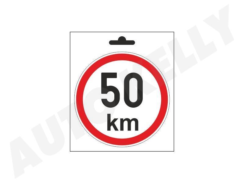 Samolepka omezená rychlost 50km/h
