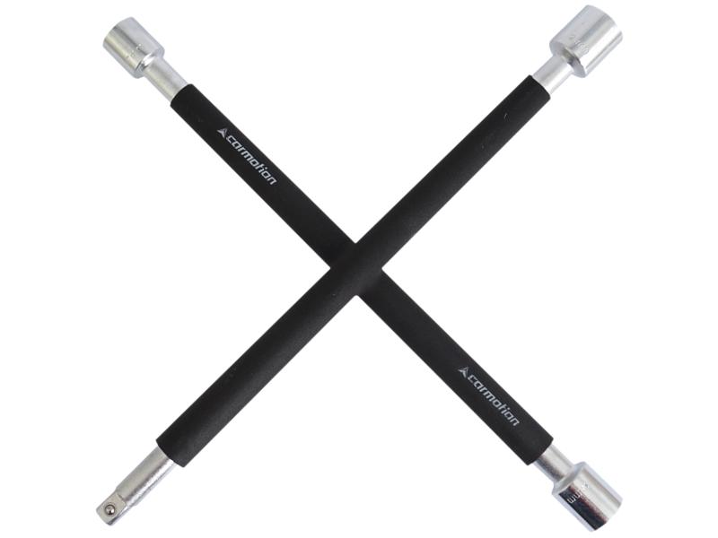 Klíč na kola křížový pogumovaný 17-19-21mm +1/2 gola, 58042