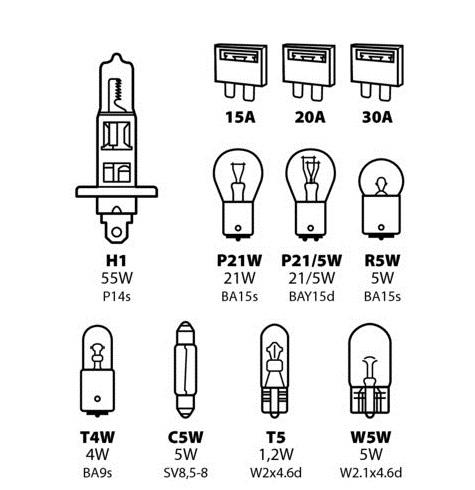 Sada žárovek+ H7/12V 55W, 58158
