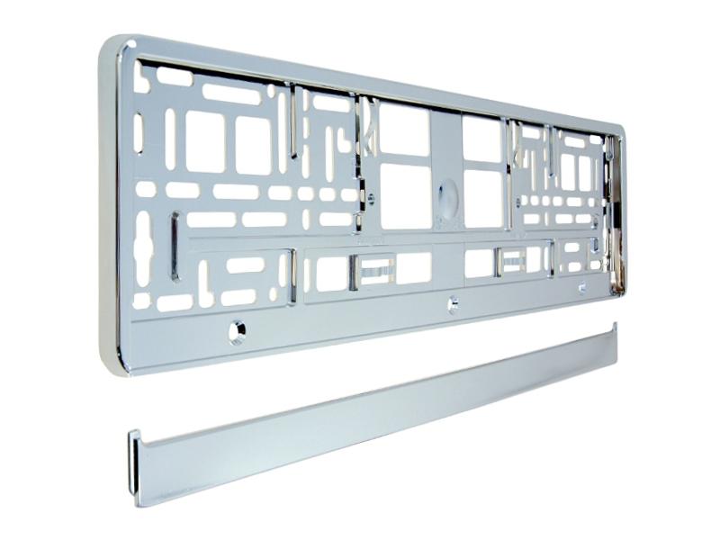 Podložka pod SPZ metallic s odnímatelným panelem stříbrná, 91560