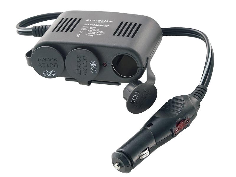 Roztrojka 12V (5V/1A), kabel 1m, pojistka 10A, 58605
