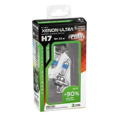 Sada žárovek H7 12V/55W XENON ULTRA HALOGEN + 90% svítivost, 4800K, 2ks   58613