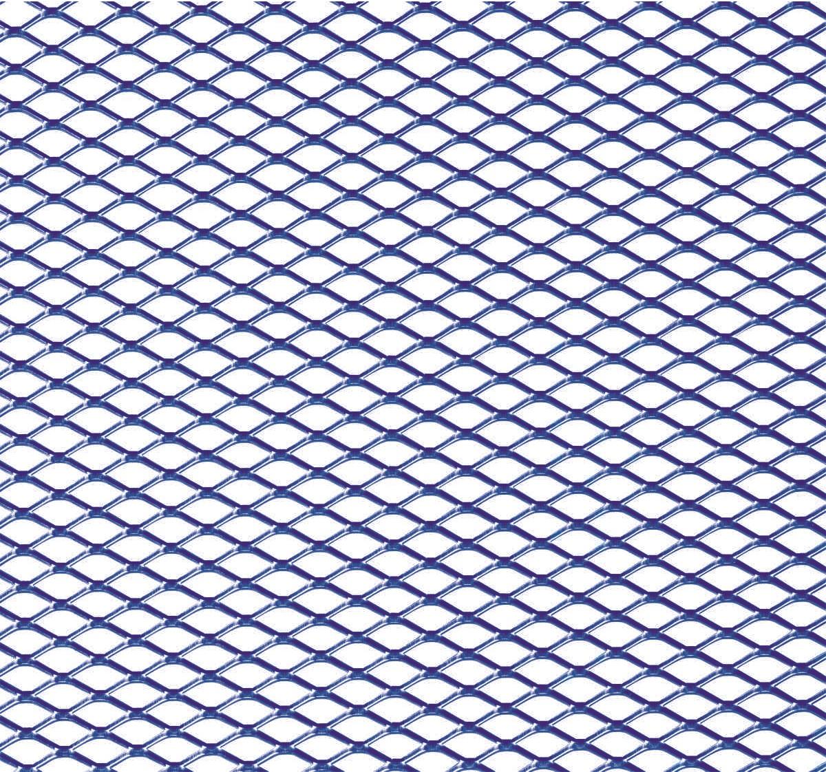 Hliníková mřížka (Tahokov) rozměr 1000x250 mm, AL 08 modrý MO